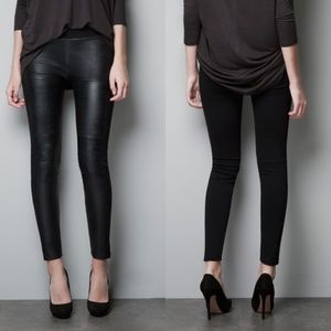 Zara Paneled Faux Leather Leggings